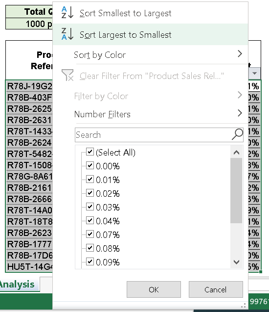 How to do a Pareto Analysis in Excel in 5 simple steps - Easy tutorial 2